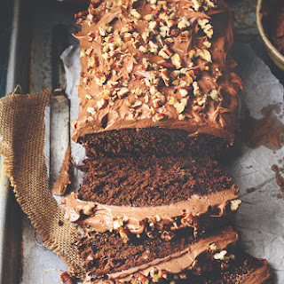 Nutella-Pecan Chocolate Cake with Nutella Frosting