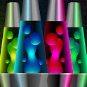 Lava lamp relax magic fluids lights icon