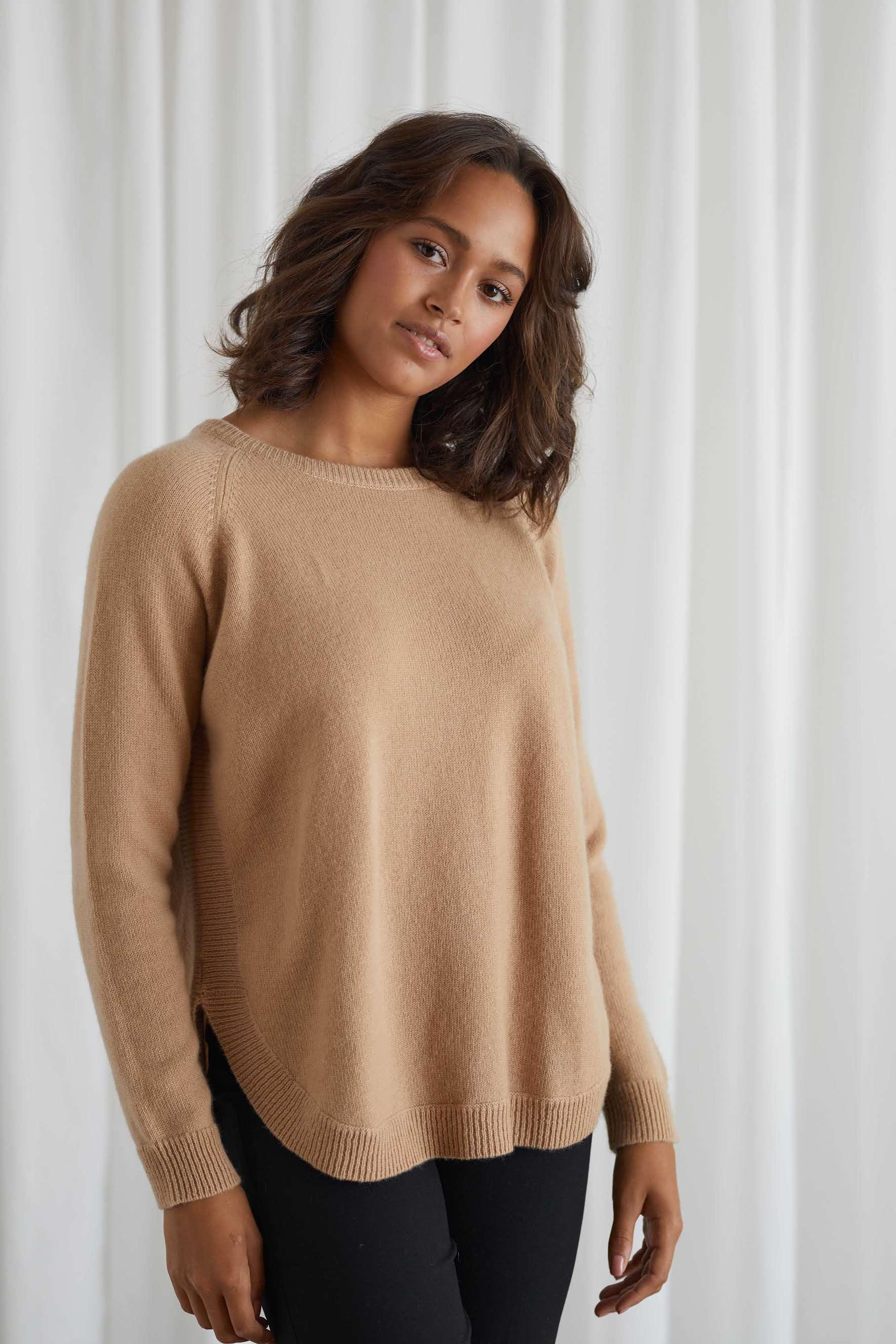 Raglan Curved Sweater