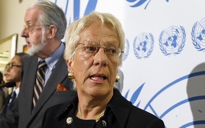 Карла дель Понте – головний прокурор трибуналу щодо злочинів у колишній Югославії