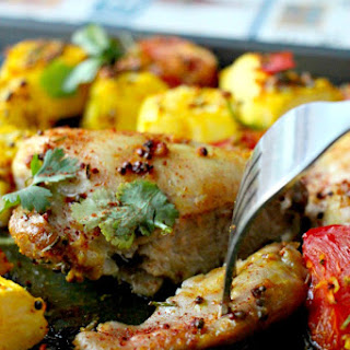 Jamie Oliver's Low-Carb Indian Spiced Chicken Bake (Paleo, GF, Dairy Free, Nut-Free, Oil-Free).
