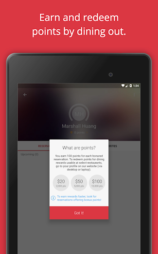 Screenshot 18 for OpenTable's Android app'