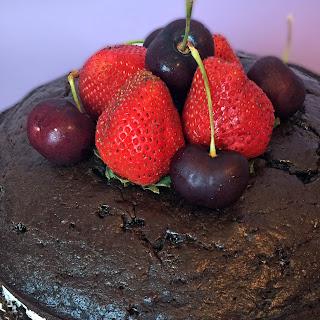 Naked Chocolate Banana Cake