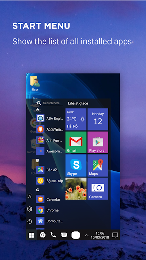 Computer launcher PRO 2018 for Win 10 themes 5.8 screenshots 2