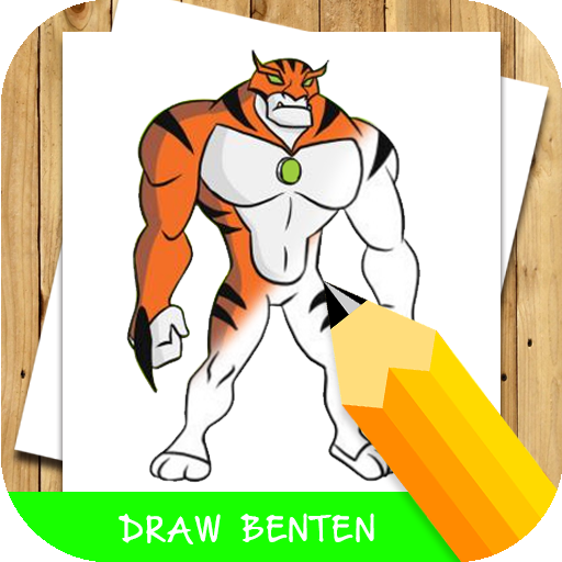 how to draw cartoon ben 10