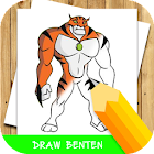 how to draw cartoon ben 10 step by step icon