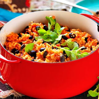 Mexican Rice And Black Beans.