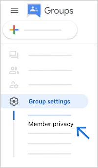 Find Member privacy at bottom left