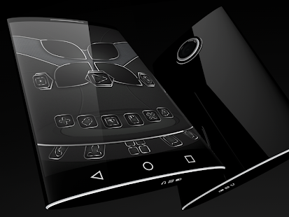 Soft Touch Black theme for Next Launcher 2
