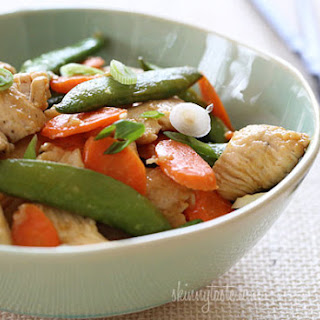 Spring Stir Fried Chicken with Sugar Snap Peas and Carrots