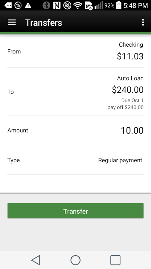 FBFCU Mobile Banking- screenshot