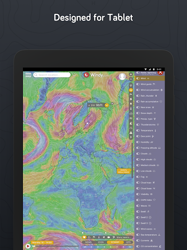 Windy.com - Weather Radar, Satellite and Forecast 25.0000 screenshots 9