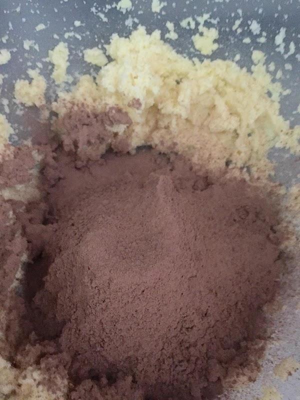 Sift the flour sugar baking soda baking powder salt and Cocoa into the bowl...