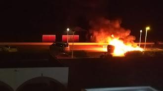 El incendio pudo ser más grave por la proximidad de otros contenedores.
