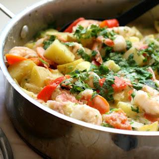 Thai Shrimp Curry with Summer Squash.