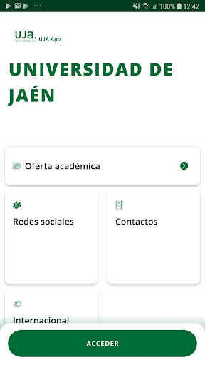 La App oficial de la Universidad de Jaén screenshot 1