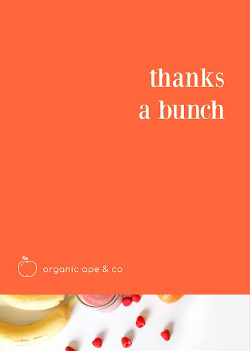 Thanks a Bunch - Thank You Card Template