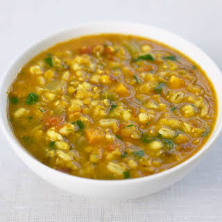 Barley Vegetable Soup With Lentils.