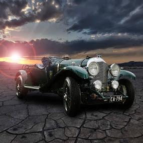 Bentley on Flats by Elmer van Zyl - Transportation Automobiles