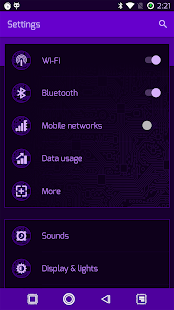 PCB Purple ⁞ CM13 Theme- screenshot thumbnail