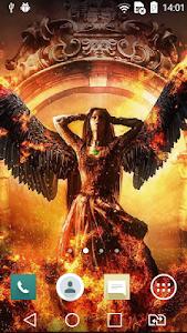 Angelic girl live wallpaper screenshot 0