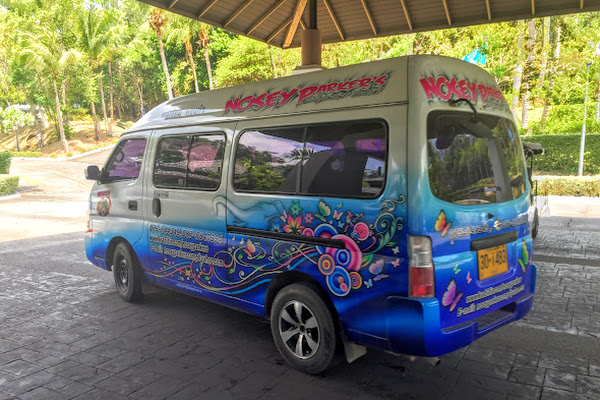 Pickup service by minivan in Krabi