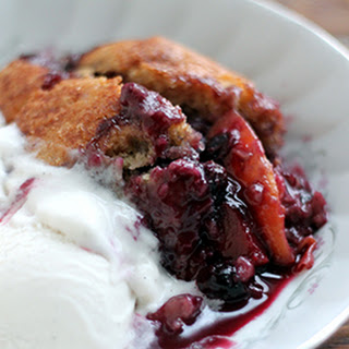 Brown Sugar Peach Blueberry Cobbler.