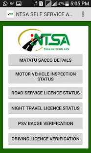 NTSA  APP- screenshot thumbnail