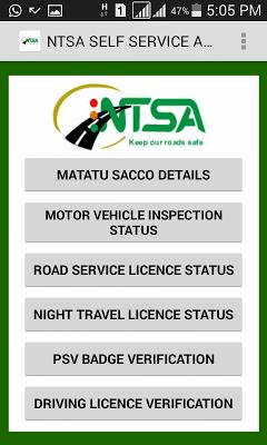 NTSA  APP - screenshot