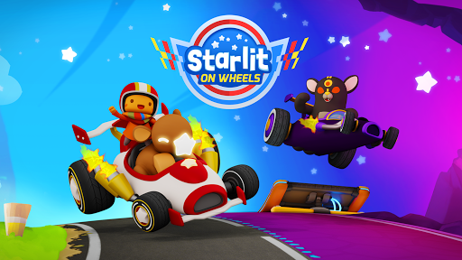 Starlit On Wheels: Super Kart fond d'écran 1