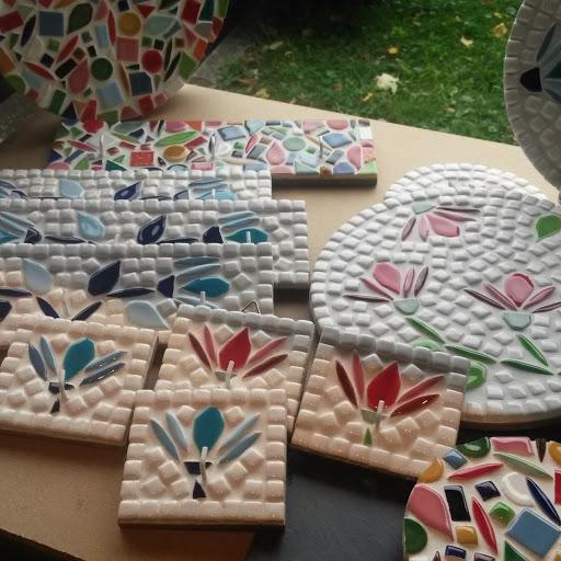artisanat mosaïque ESAT de L'Arche par des personnes handicapées