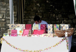 Photo: Box stall at the Saturday Market © The Priston Festival 2009, photo: Richard Bottle
