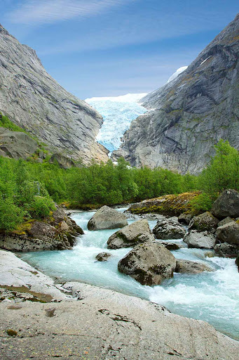 Norway-Briksdalsbreen1 - Briksdalsbreen is an arm of the Jostedalsbreen glacier in Jostedalsbreen National Park, north of Bergen, Norway.