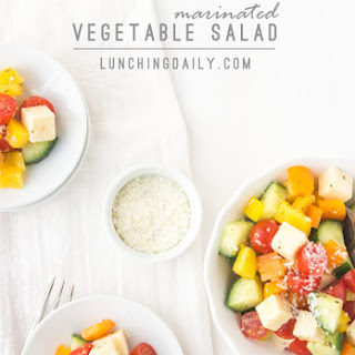 Marinated Vegetable Salad with Zesty Italian Dressing