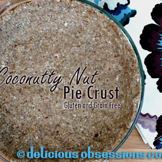 Easy Coconut Nut Pie Crust (gluten, grain, and dairy free)