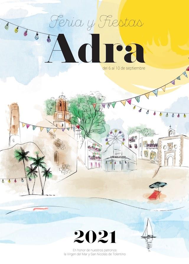 Cartel de Feria y Fiestas de Adra 2021.