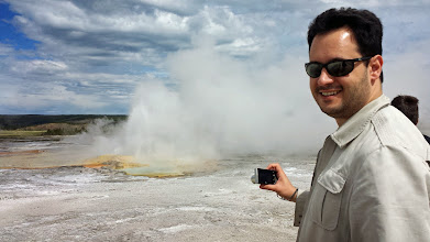 Photo: Simon vs the geyser