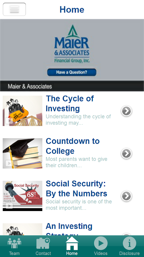 Maier & Associates- screenshot