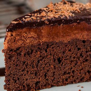 Chocolate Mousse Mud Cake.