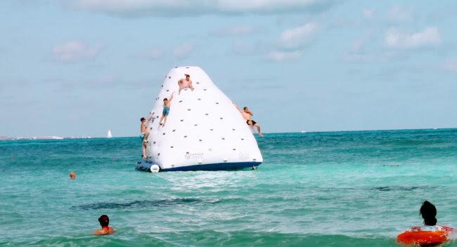 Climb inflatable iceberg