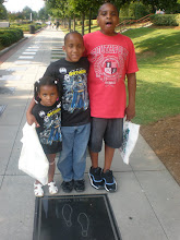 Photo: kids wanted to take their picture w/ the Rosa Parks block on the Civil Rights Walk of Fame