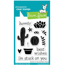 Lawn Fawn Clear Stamps 3X4 - Stuck On You