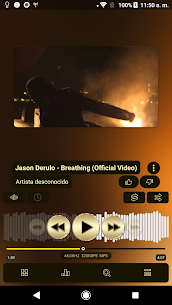 Poweramp v3 skin gold 1.0.3 MOD for Android 1