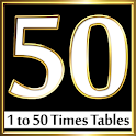 50 Times Tables Multiplication icon