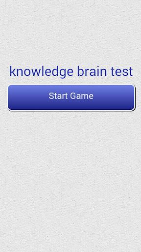 Knowledge Brain Test