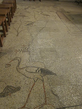 Photo: Church of Multiplication (of the Loaves and Fishes) 4th c. mosaic floor