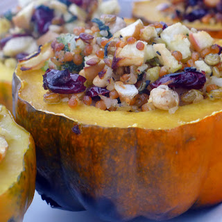 Apple & Whole Grain Stuffed Acorn Squash Recipe – Enter Bird's Eye Vegetables Giveaway.