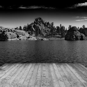 Sylvan Lake by Chris Martin - Black & White Landscapes ( south dakota, custer )