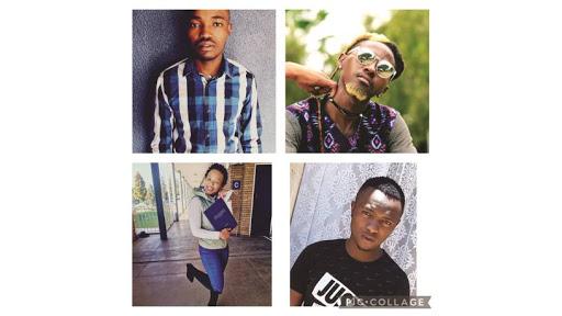 Top left: Tshepo Dlamini; bottom left: Mpho Qhubu; top right: Lehlohonolo Colline Moreki; and bottom right: Nkosinathi Ndala.