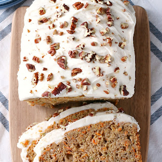 Zucchini Carrot Cake Bread (with Cream Cheese Frosting!)